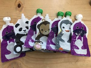 Reusable food pouches squooshi baby feeding toddler for Sale in Lake Forest, CA