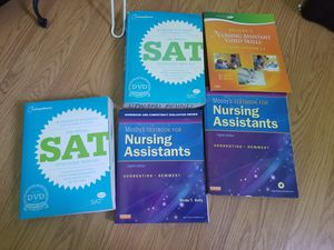SAT Books and nurse assistant text for Sale in San Pablo, CA