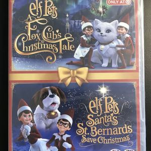 Brand New Elf On The Shelf Elf Pets Fox Cub's Christmas Tale & Santa's Christmas St. Bernards Save Christmas 2-in-1 Blu Ray DVD Movie for Sale in Norco, CA