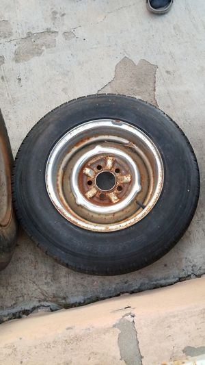 "4 1/4 8 ply tires on 14"" chrome rims for Sale in San Diego, CA"