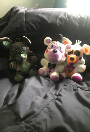 Phantom foxy,lolbit and Helpy plushies for Sale in Chicago, IL