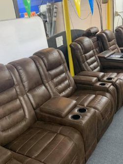 ,Sofa And Love Seat. Game Zone Bark Power Reclining Living Room Set. Delivery available for Sale in Addison,  TX