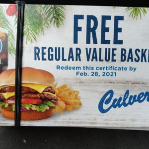 Culvers Food Coupons for Sale in Burnsville, MN
