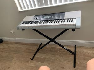 Casio Piano, Keyboard, with adjustable stand for Sale in Delray Beach, FL