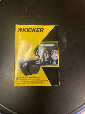 Kicker CXARC In Dash Bass Level Remote for CX, DX, or PX Series Amplifier, Black for Sale in Modesto, CA