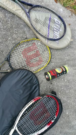 tennis 4 Rackets and new ball for Sale in Brandon, FL