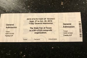 State fair Tickets! for Sale in Carrollton, TX
