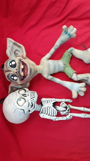 Soft Hanging Cute Skeleton and Troll Halloween for Sale in Chula Vista, CA