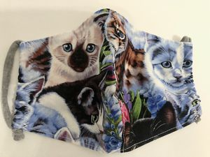 Kitty Cats Pet Lovers Fabric Cloth Mask Face Cover for Sale in Miramar, FL