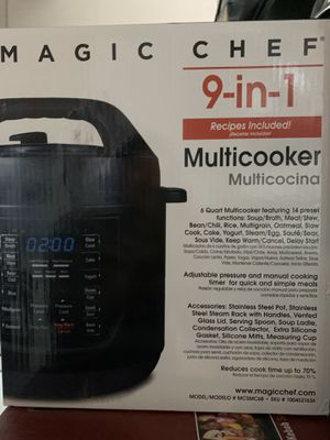 Qt. 9-in-1 Multi Function Pressure Cooker with Sous Vide in Matte Black by Magic Chef for Sale in Huntington Beach, CA