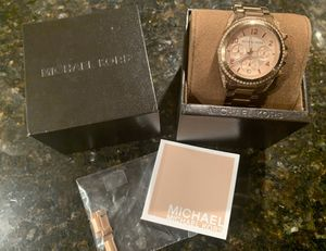 Authentic Michael Kors Ritz Pave Watch - Rose Gold for Sale in Chicago, IL