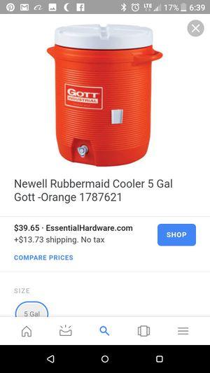 50 gallon Water cooler beverage ice chest picnic gott brand for Sale in Nashville, TN