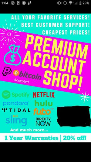 Selling Sling TV Accounts with Subscriptions ORANGE l BLUE l SPORTS, Hulu LIVE TV Cheap for Sale in Alexandria, VA