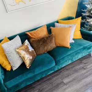 2 Emerald Green Sofas In Midtown for Sale in Atlanta, GA