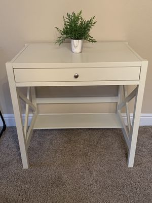 White Nightstand writing Desk for Sale in Roseville, CA