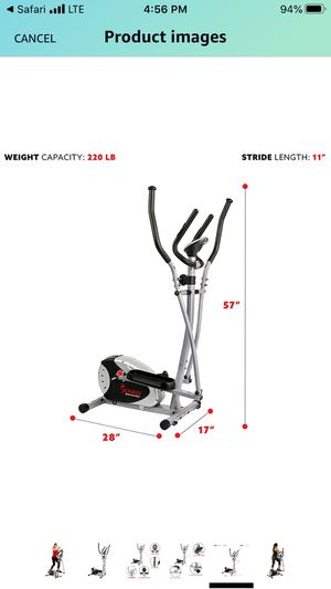 Sunny Health & Fitness SF-E905 Elliptical Machine Cross Trainer for Sale in Columbus, OH