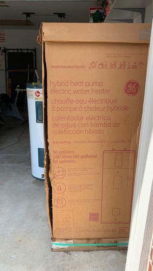 Hybrid heat pump electric water heater GE for Sale in Selma, TX