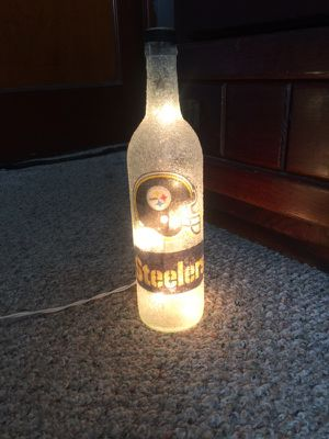 Steelers bottle lamp for Sale in Pittsburgh, PA