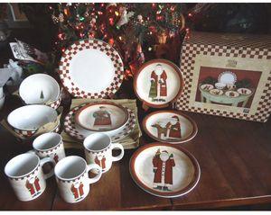 Christmas Dinnerware - Folk Santa for Sale in Morristown, NJ