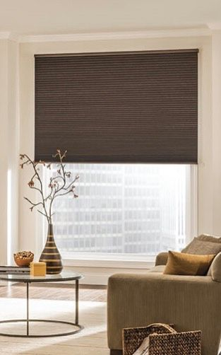 Brown cellular shades MUST GO