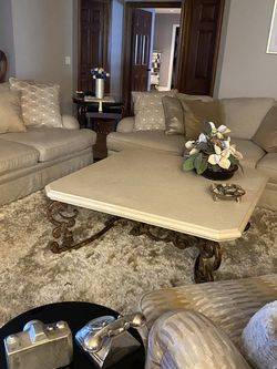 Stone And Iron Coffee Table for Sale in North Las Vegas,  NV