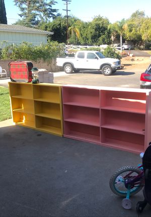 Big wooden bookshelves. Pair for Sale in Fallbrook, CA
