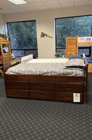 Twin Storage Bed in Espresso or White with built in trundle for extra mattress and 3 storage drawers for Sale in Vancouver, WA