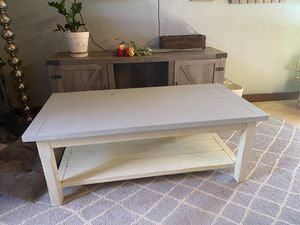 Coffee table 48x18x24 real wood could use some paint or refurnished for Sale in Escondido, CA