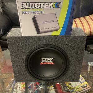Mtx Car Ausio . 12 Inch Car Stereo Subwoofer With Truck Style Box And 1100 watt Autotek Amp . New Year Super Sale $109 While They Last . New for Sale in Mesa, AZ