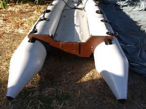 Inflatable fishing boat. Selling for $260 firm a 10' Sevylor model boat . has no leaks . Removable transom. Soft air floor for Sale in Los Angeles, CA