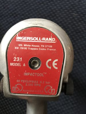 Ingersoll and Rand 231 A Air Impact Wrench for Sale in Atlanta, GA