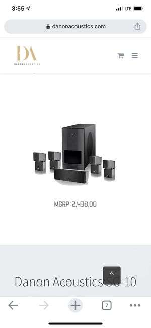 Danon Acoustics SC-10, 1500W 5.1 HD Home Theater System for Sale in Lawndale, CA