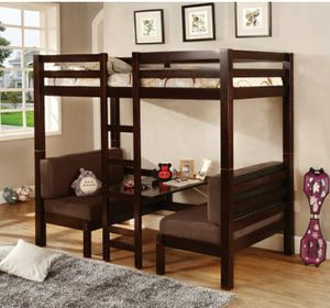 Twin over twin bunk bed converts into table and two benches for Sale in San Diego, CA