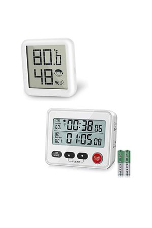 Digital Dual Kitchen Timer+Digital Hygrometer Thermometer with Humidity Gauge(combo) for Sale in West Covina, CA