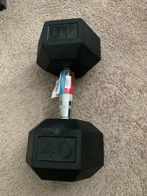 Single 40lb hex dumbbell for Sale in Lutz, FL