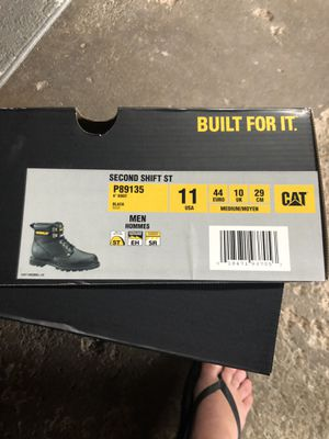 Steel toe work boots Caterpillar size 11 for Sale in Independence, OH