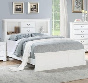 White queen size bookcase bed for Sale in Parkland, FL