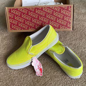 Vans Slip-On Glitter Neon Yellow Skate Shoes for Sale in Las Vegas, NV
