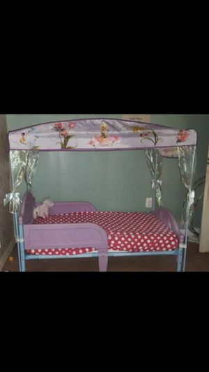 Tinkerbell Canopy Toddler Bed for Sale in Reisterstown, MD