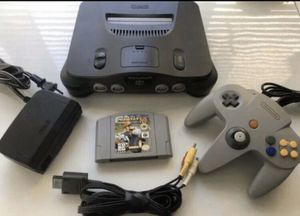 Nintendo 64, N64 System / Console Bundle + Cables + Controller +Mario Kart 64 for Sale in Struthers, OH