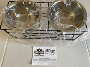 Stainless Steel Elevated Pet Bowl for Sale in Los Angeles, CA