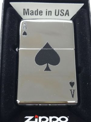 Zippo lucky ace high polished chrome 24011 for Sale in Los Angeles, CA