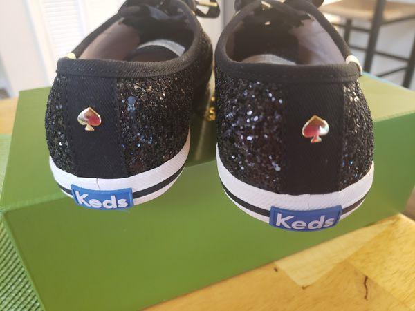 Keds Kate Spade black sparkle