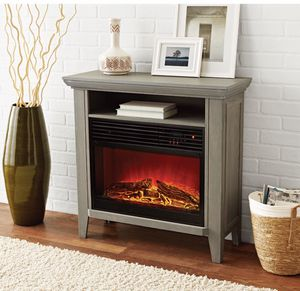 NEW - Infrared Quartz Fireplace Heater with Storage Shelf, Remote Control for Sale in Centreville, VA
