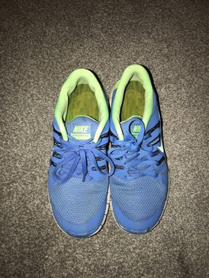 Nike Free Run, Blue and Bright Green, Size Women's 10 1/2 for Sale in East Wenatchee, WA