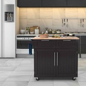 Costway Heavy Duty Utility Modern Rolling Kitchen Cabinet Cart for Sale in Fontana, CA