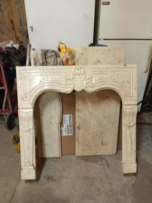 FRENCH ANTIQUE MARBLE MANTLE for Sale in Granite City, IL