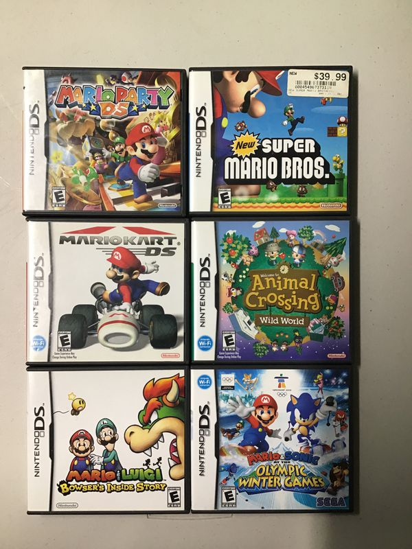 Nintendo ds games (only Mario party and Mario kart $45)