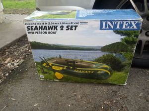 Intex seahawk 2 set 2 person inflatable boat for Sale in Aloha, OR