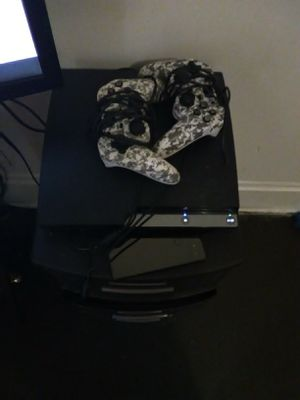 Ps3 with 2 controllers an 10 games for Sale in Columbus, OH